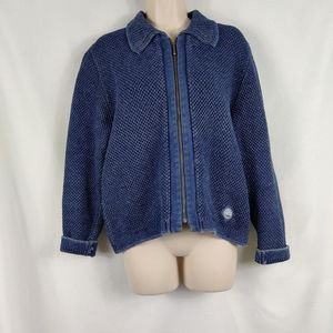 Blue Willis blue zip up sweater jacket small